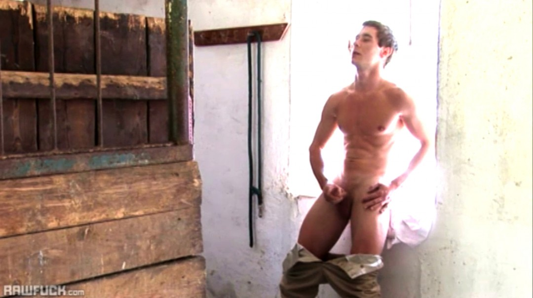 Farmboy Wanking in the Cowshed