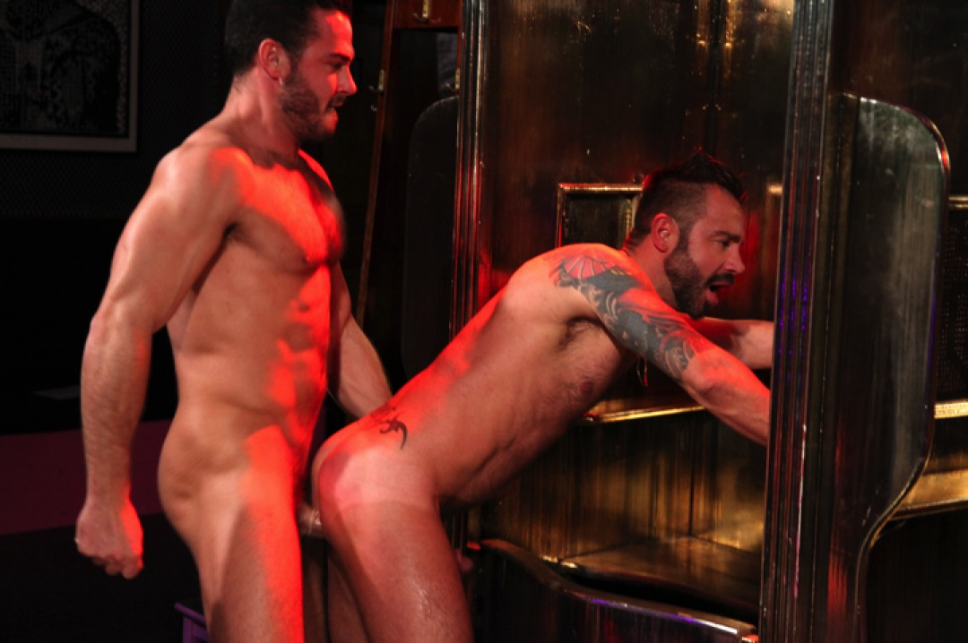 Ass split in two at the sex-club
