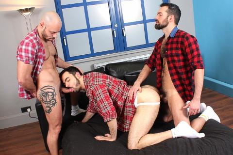 Culs poilus de bucherons gays