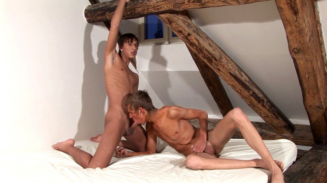 Tender Latino Twink Fucked by Smooth Blond Boy!