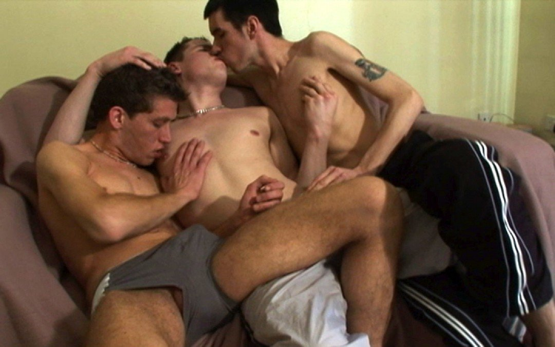 Scallies in first threesome