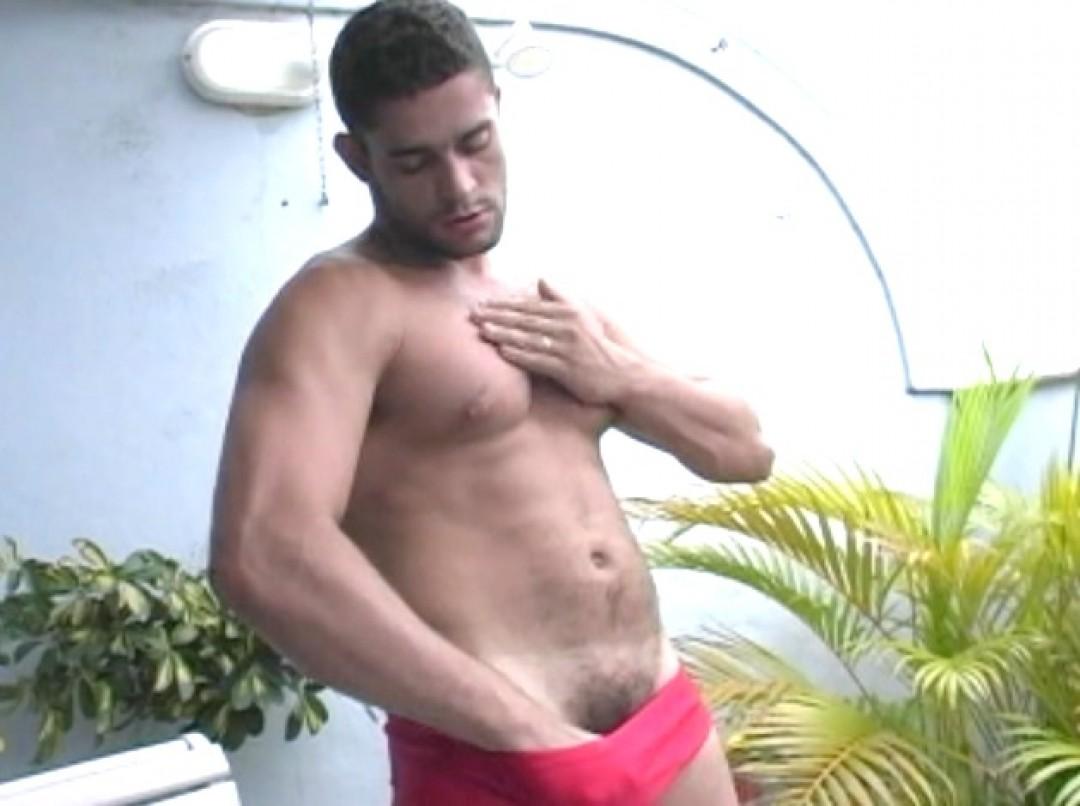 Sporty Latino exposed
