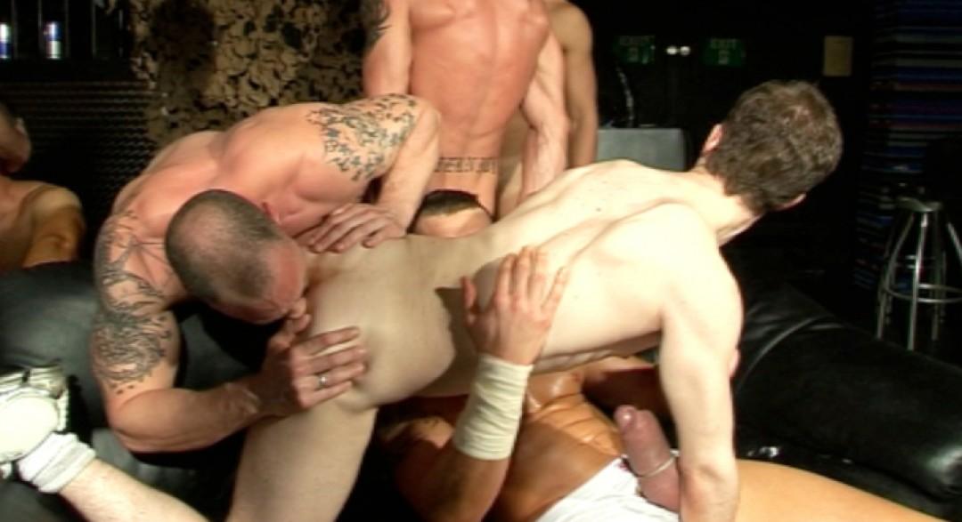 Big orgy with 10 guys