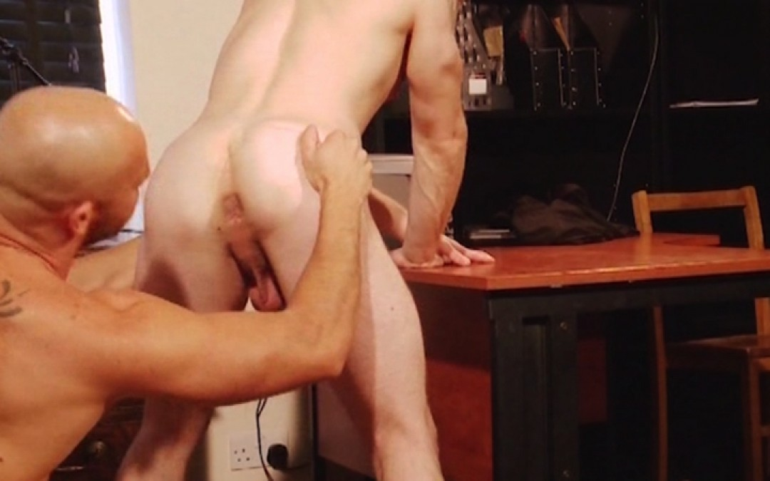 Job interview with a very hung boss