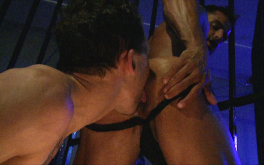 Two hunks in a dungeon