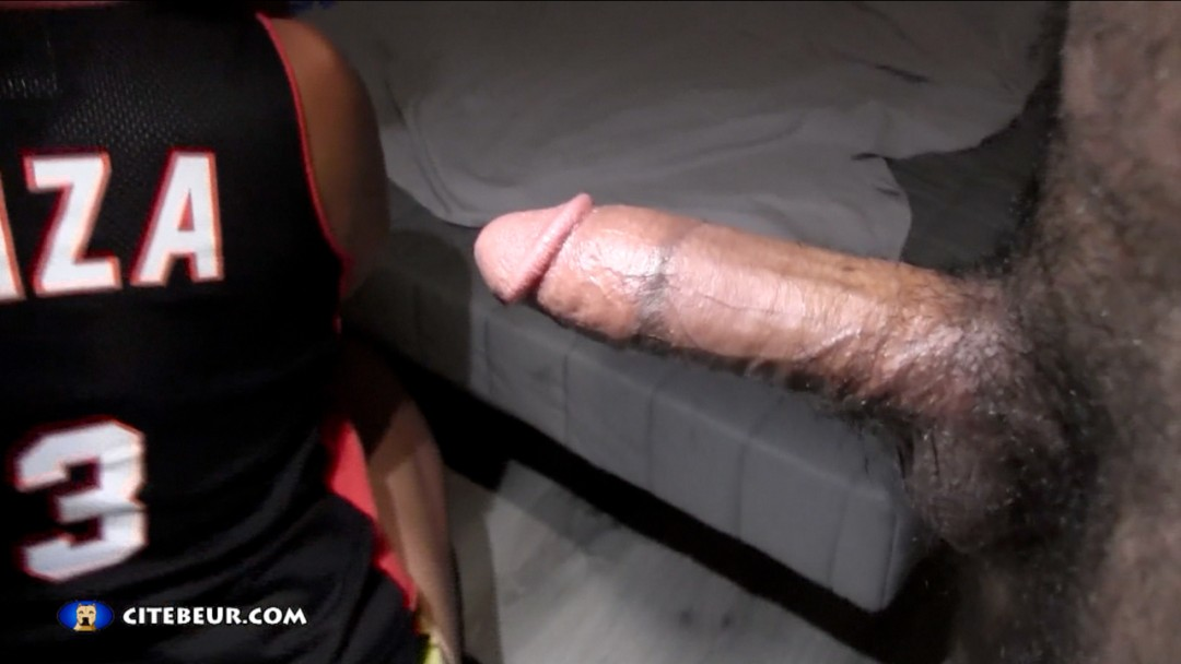 Cock-slapped and fucked!