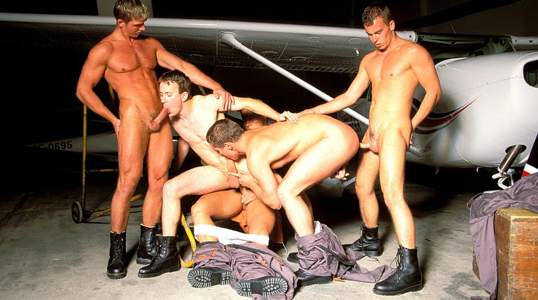Gay Aviators' Orgy