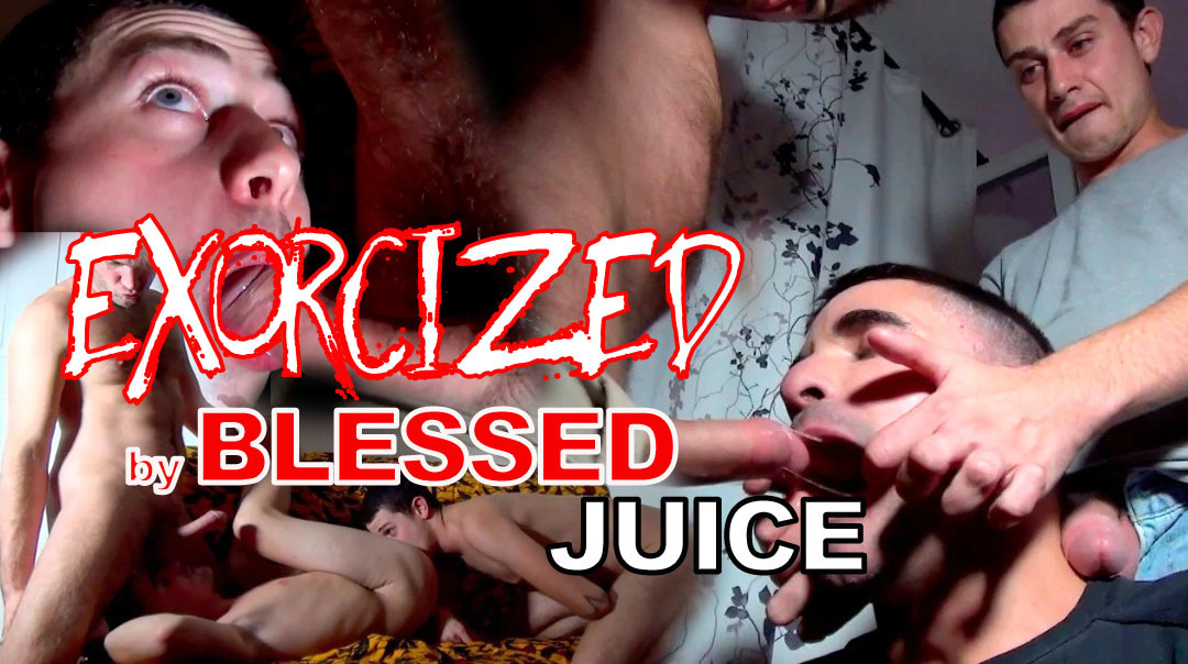 Exorcism by cock and blessed juice