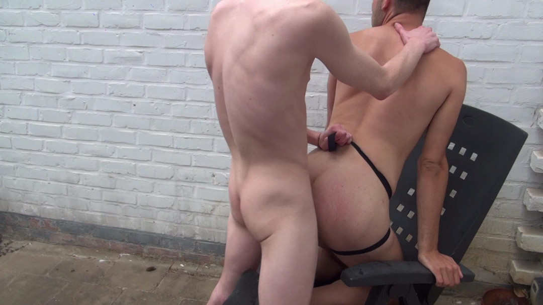 Fucking on the terrace