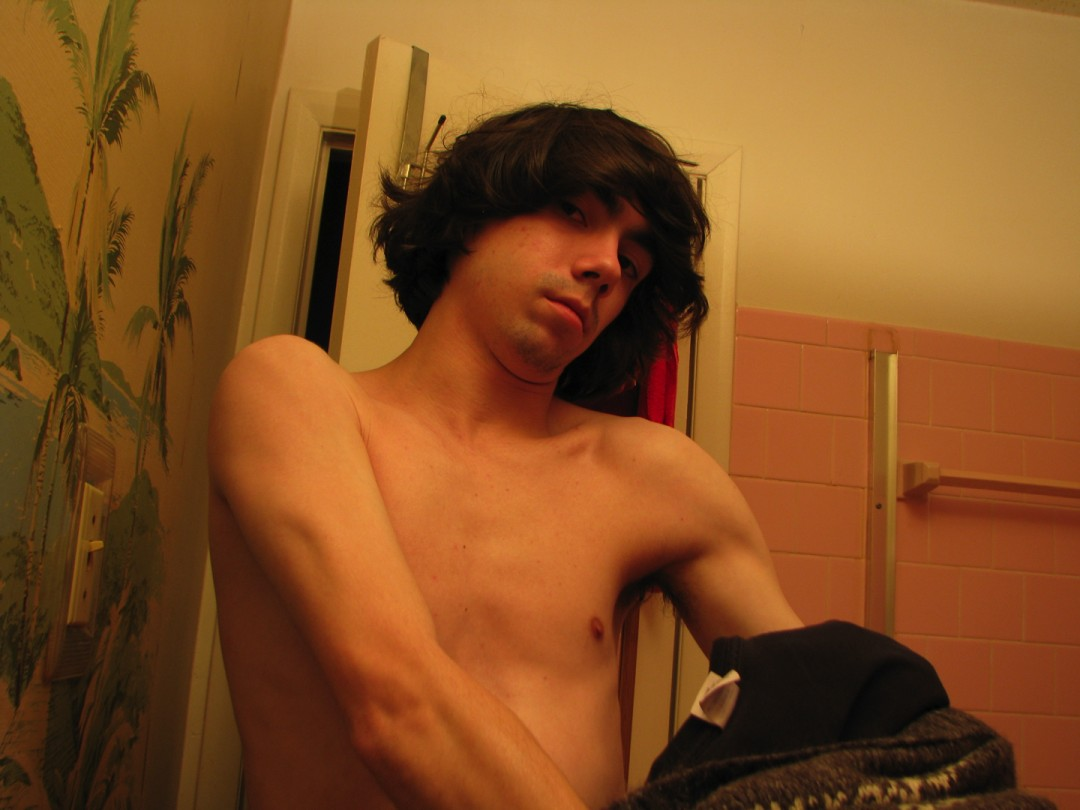 Young boy's morning masturbation