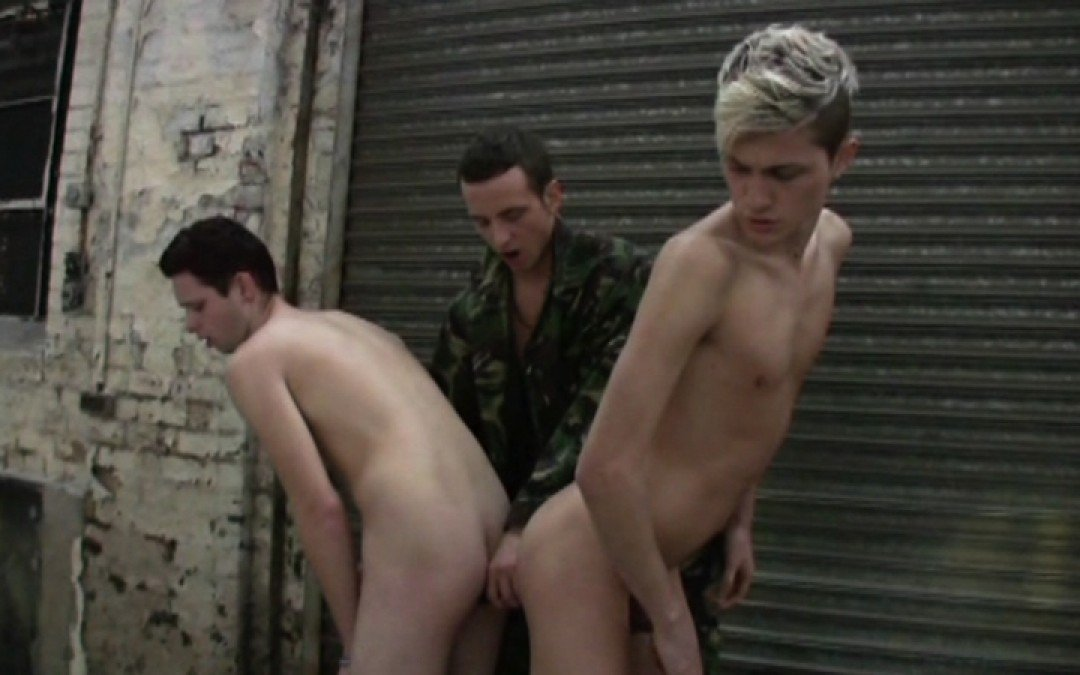 Two virgin boys for horny soldier