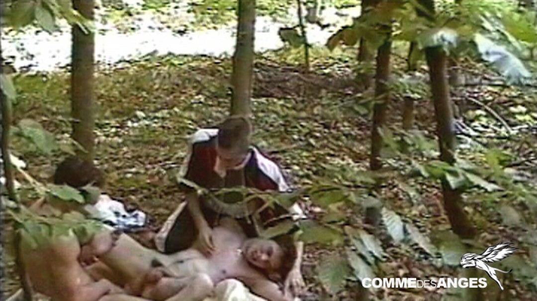 Young thief punished by cocks