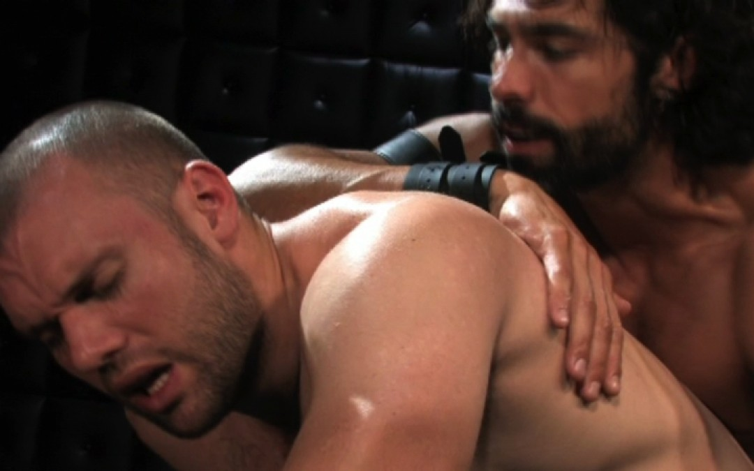 Pushing his ass back on super cock