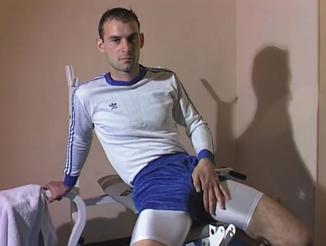 Football kit on, cock out!