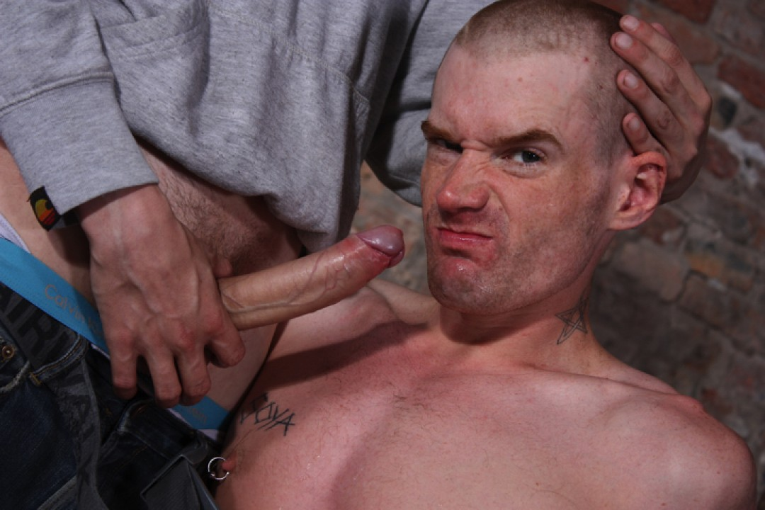 Head Shaved And Face Fucked!