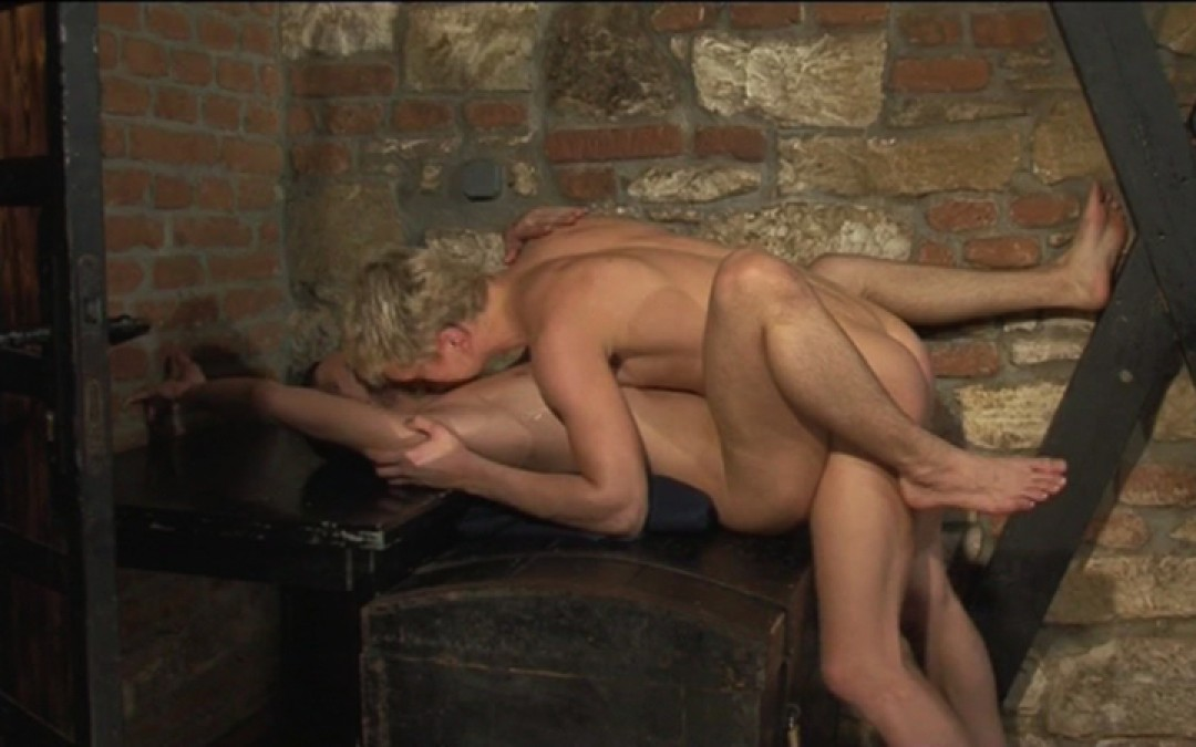 Blond boy, big cock and big load