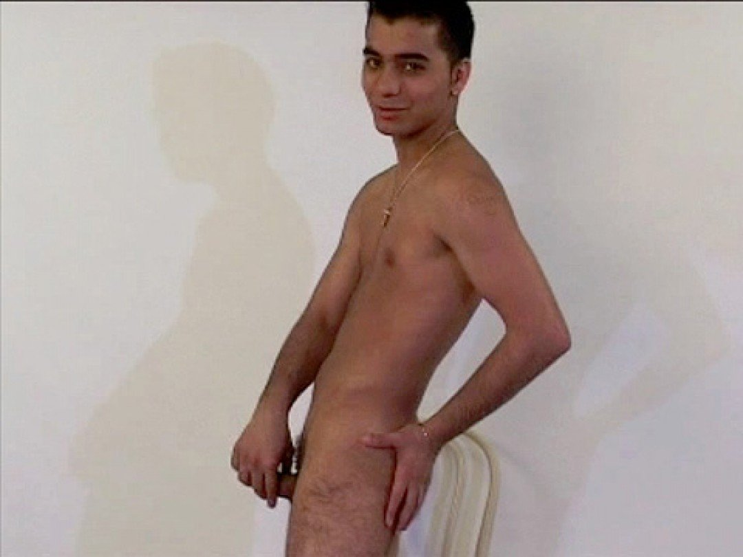 Young turkish boy shows his smooth body and dick