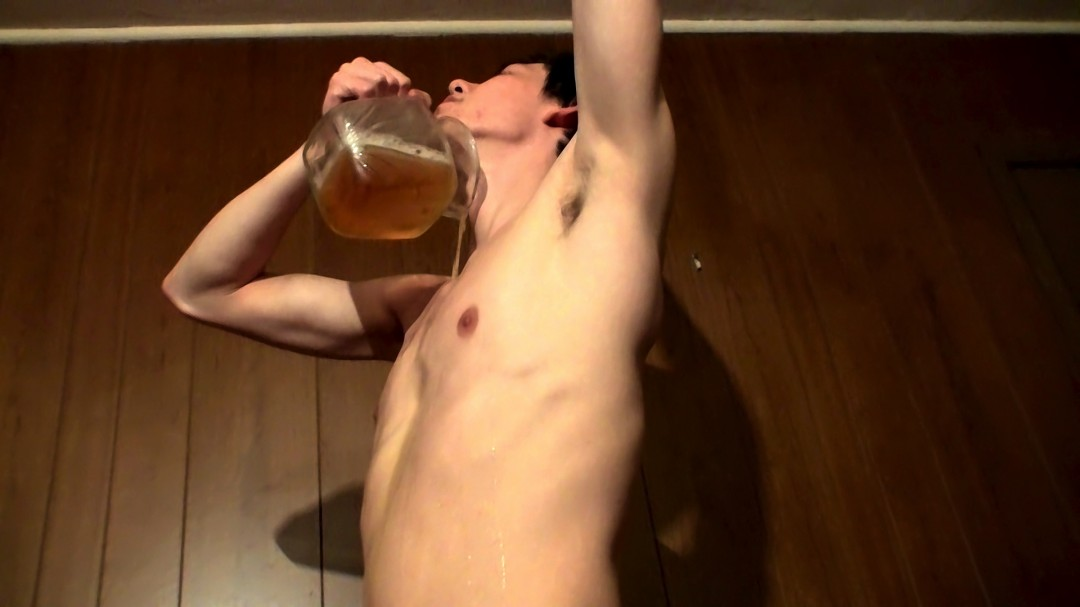Cooper Fills A Jar With Piss