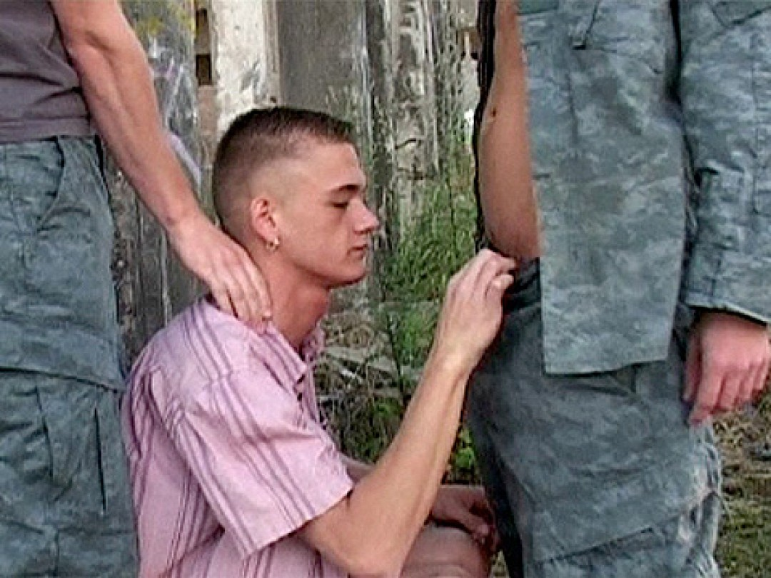 Captured boy loves cocks