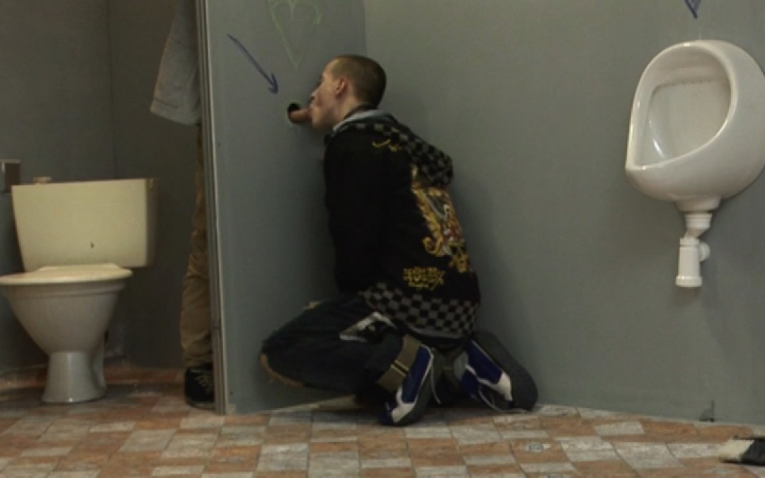 Skater-boy in glory hole