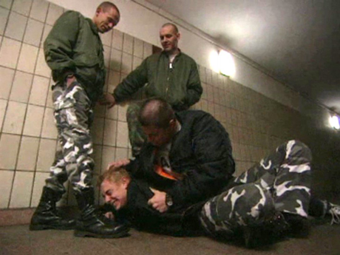 ABUSED BY SKINHEADS IN BOOTS
