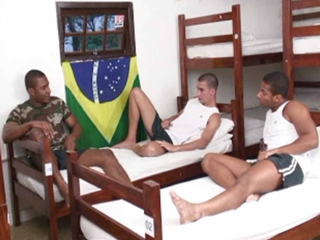 THREE YOUNG BRAZILIAN COCKS