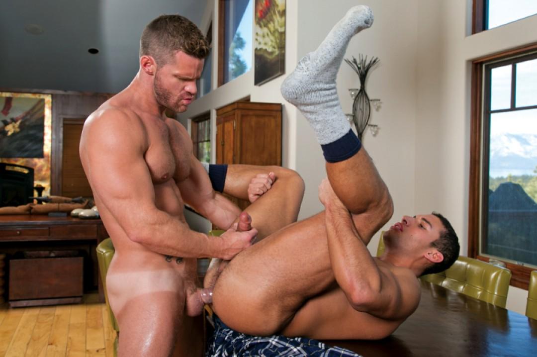 Landon Conrad grabs a boy