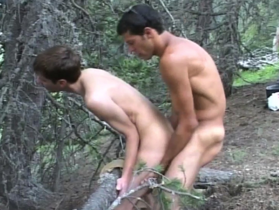 Dicked in the woods