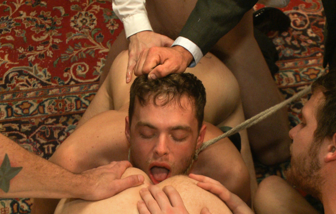 100 men to fuck a gay slave - part. 3