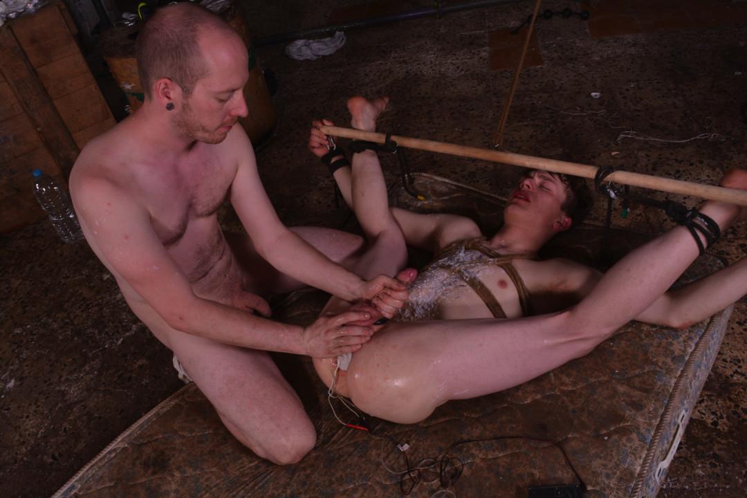 Driving his gay twink slave crazy