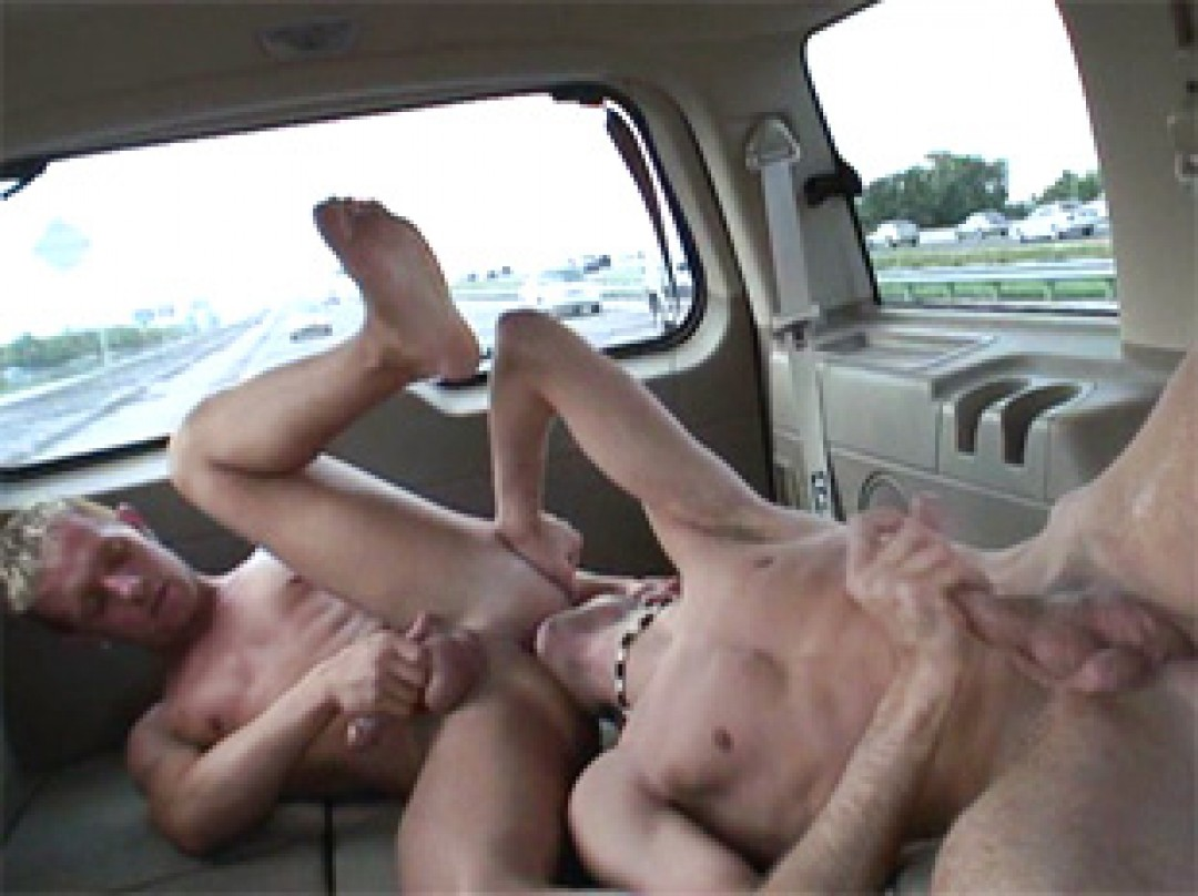 he gets sucked and fucked by a guy he just hitchhiked