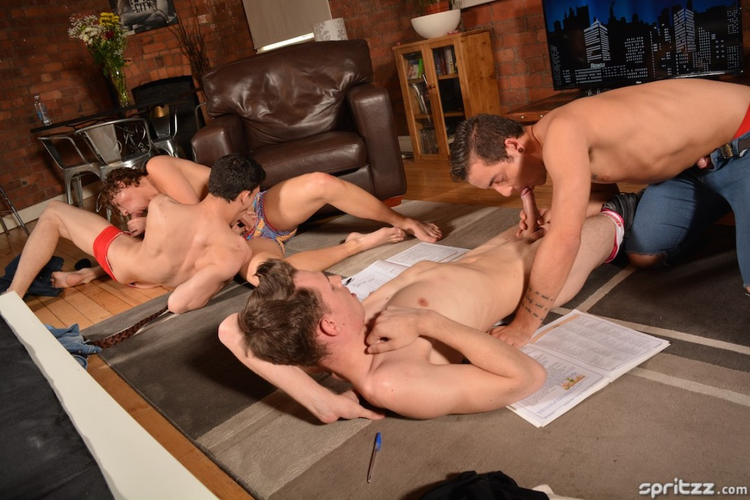 Language Lesson Becomes Gangbang Session (Part 1)