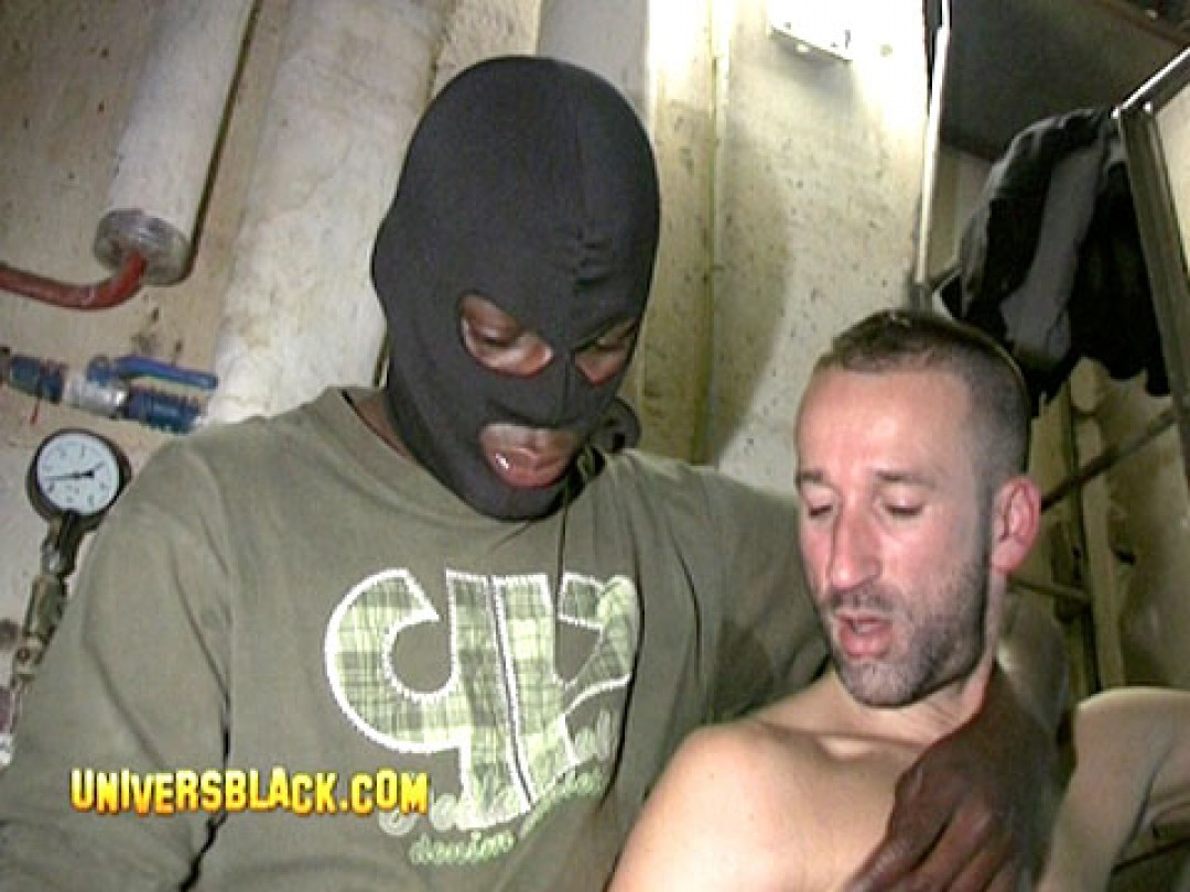 HOODED BLACK STUD OFFERS HIS COCK