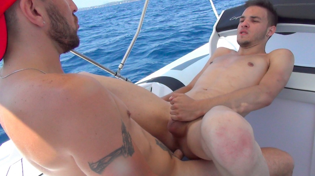 Intensive pounding of a small tight ass and beardless by the cock of a brutal sailor
