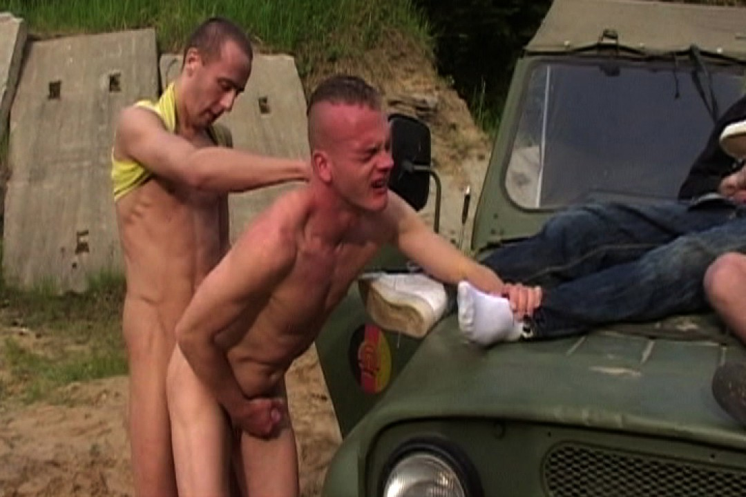 Young male busted on the roadside