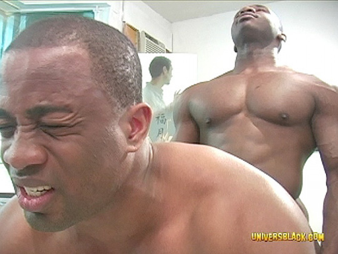 FOUR BLACK MUSCLE HUNKS