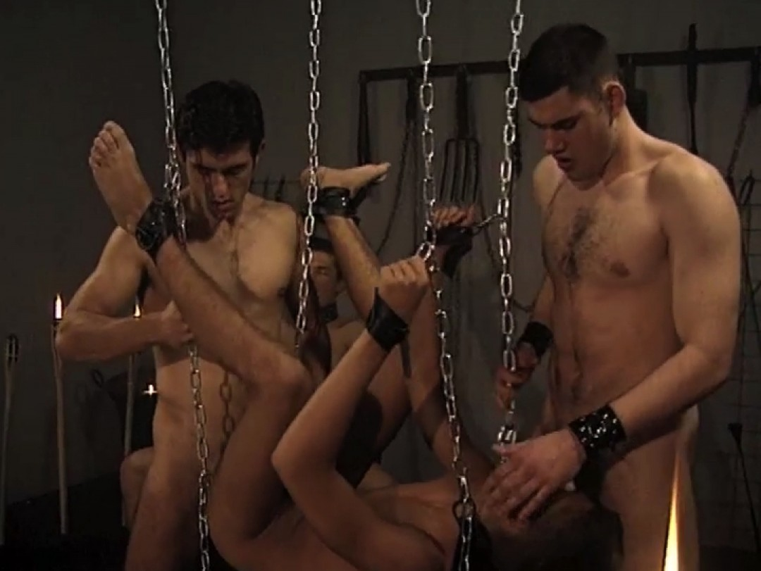 Happy boy in gang-bang