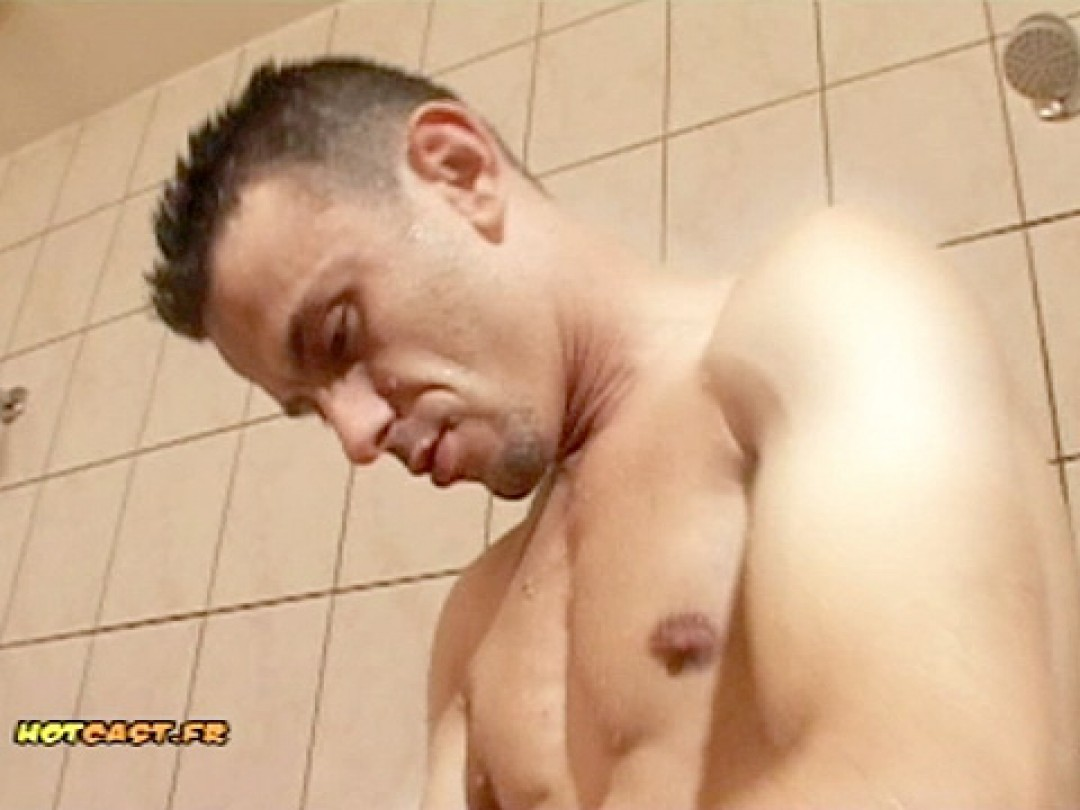 MAN ON BOY IN THE SHOWERS