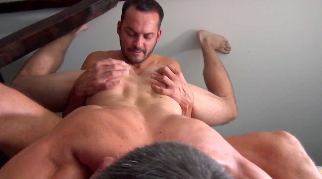 Impaled on Thiago Monte 9.5 inch fat dick