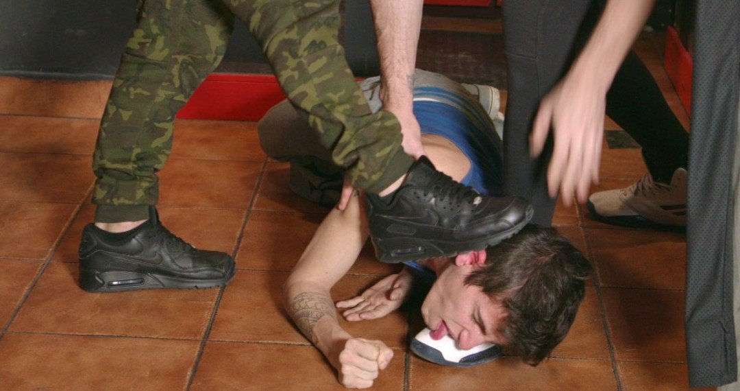 Young guy wrecked to fuck by brutal XL-tops