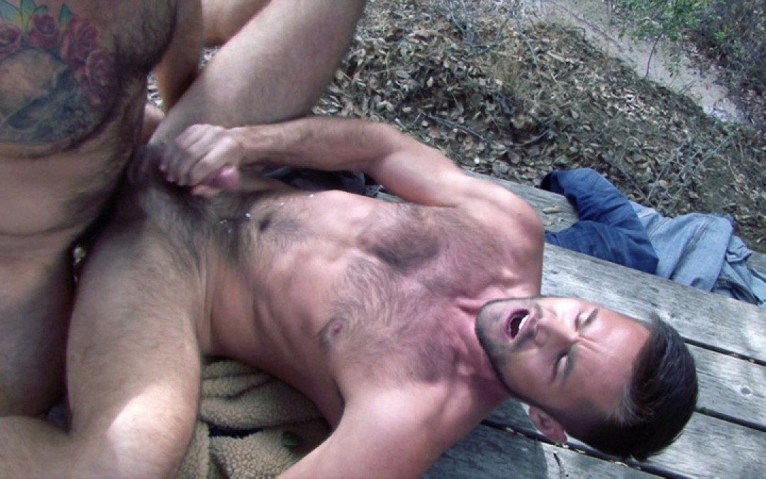 Mike de Marko takes cock in the woods