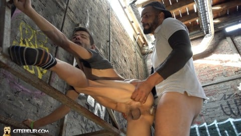 Gay arab man fucks hard a white boy's ass