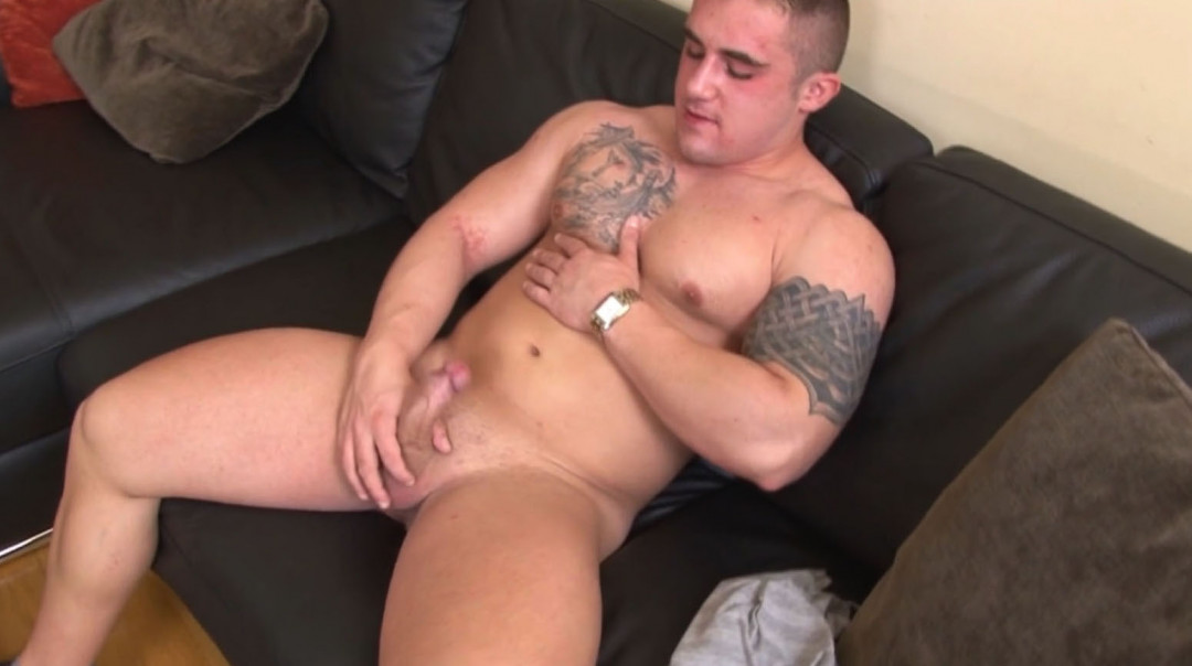 Big Gay Boy playing with his cock