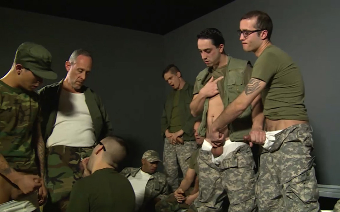 Being a cocksucker for all the military men