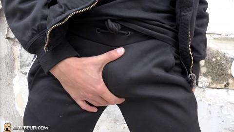 Big cock in sport pants