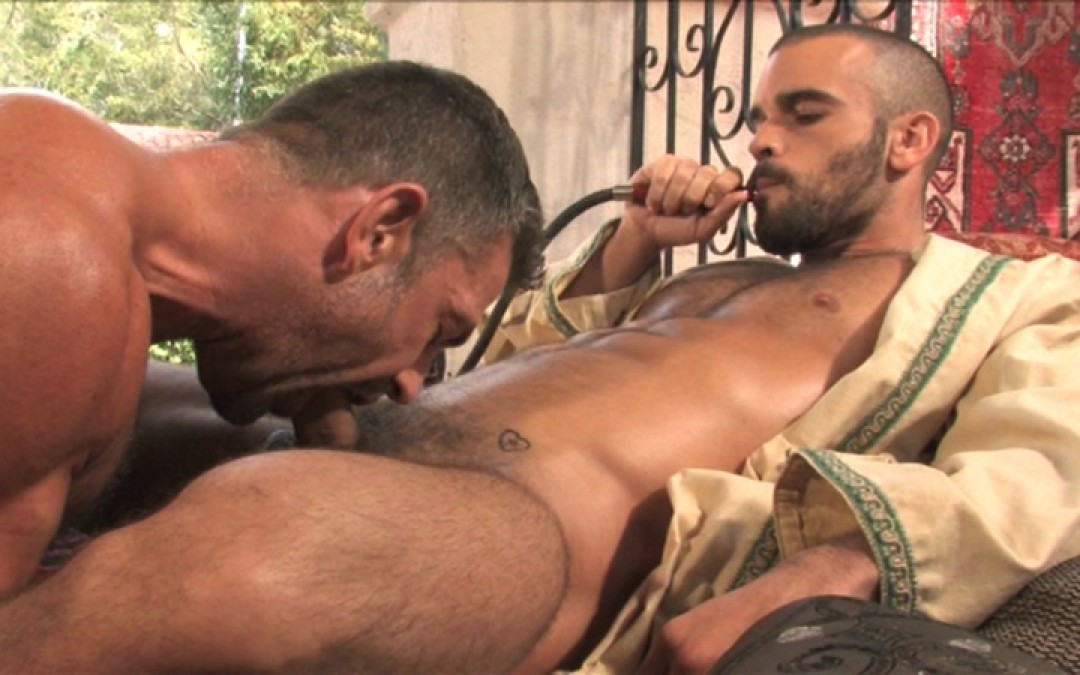 Hairy macho studs do it like a man
