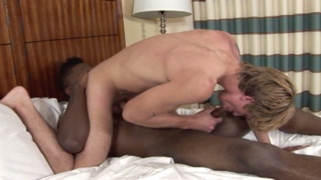 Hot Black and Blond boys in the bedroom.