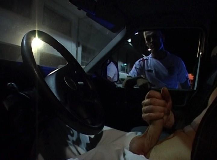 22cm skeater dick sucked in the car