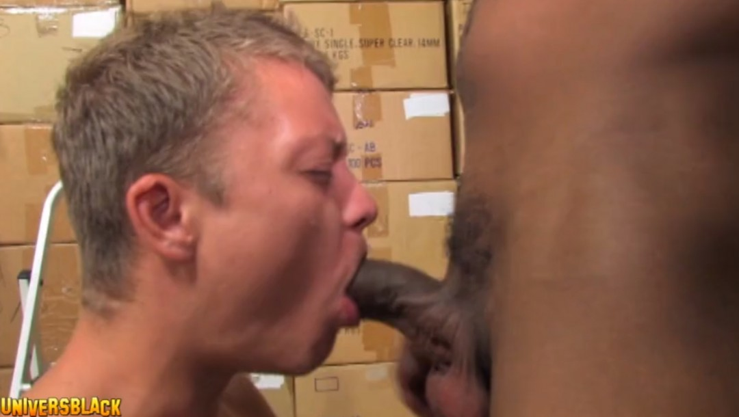 Giant black dick for young and innocent blond twink