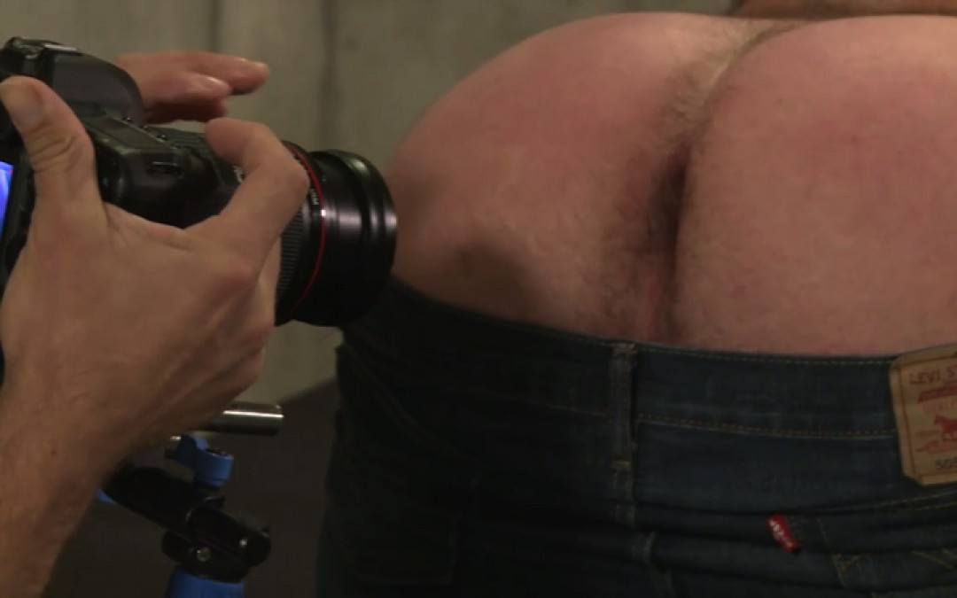 Muscled male, turned to gay sex pig